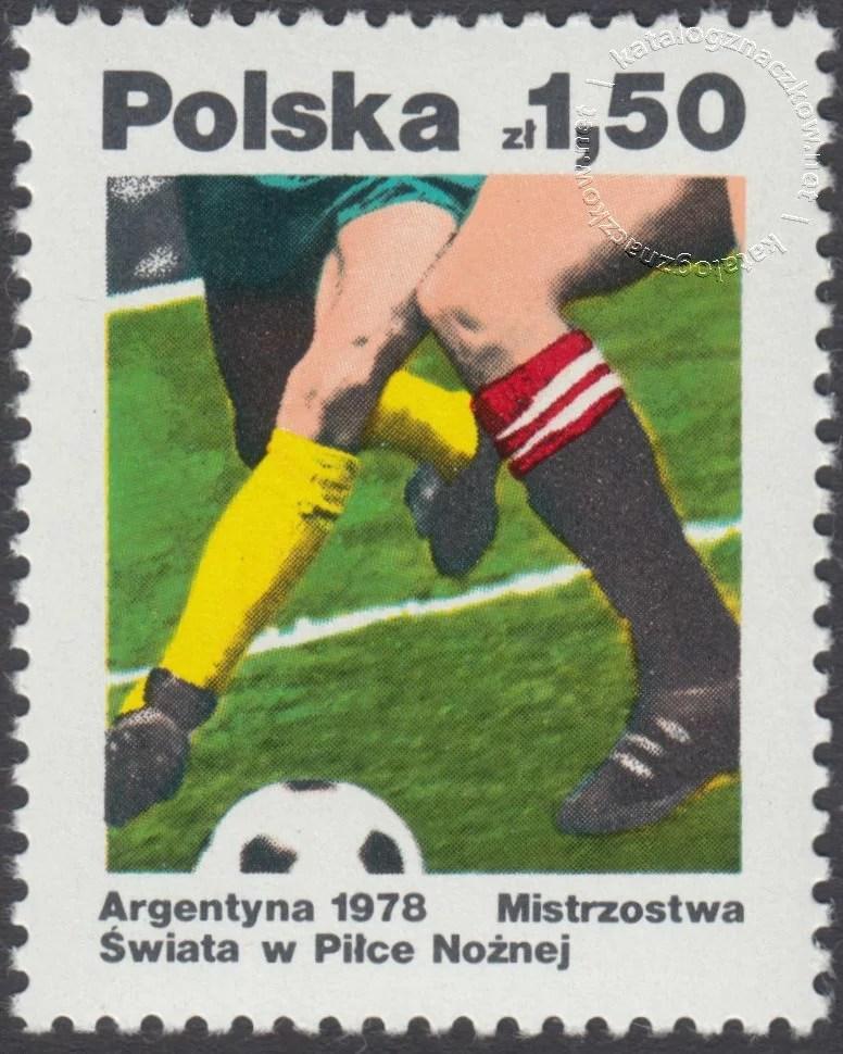 Mistrzostwa świata w piłce nożnej w Argentynie znaczek nr 2410