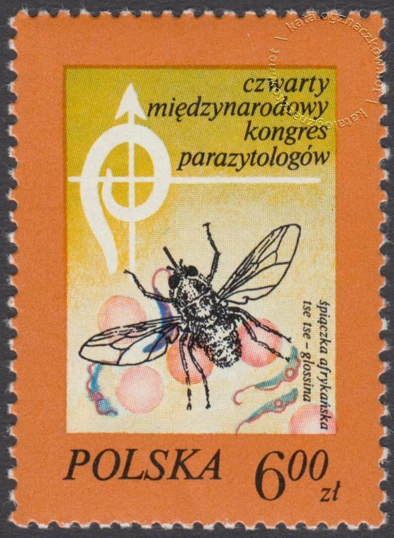 IV Międzynarodowy Kongres Parazytologów znaczek nr 2421