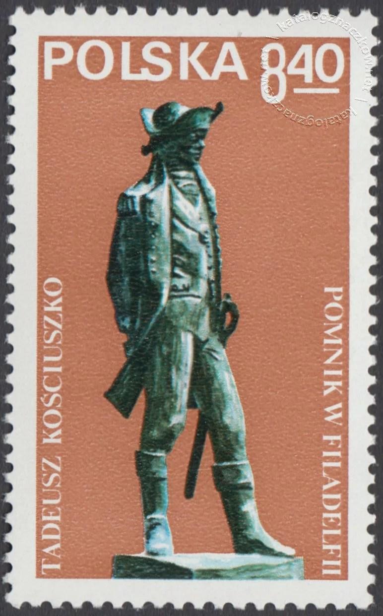 Odsłonięcie pomnika Tadeusza Kościuszki w Filadelfii znaczek nr 2489