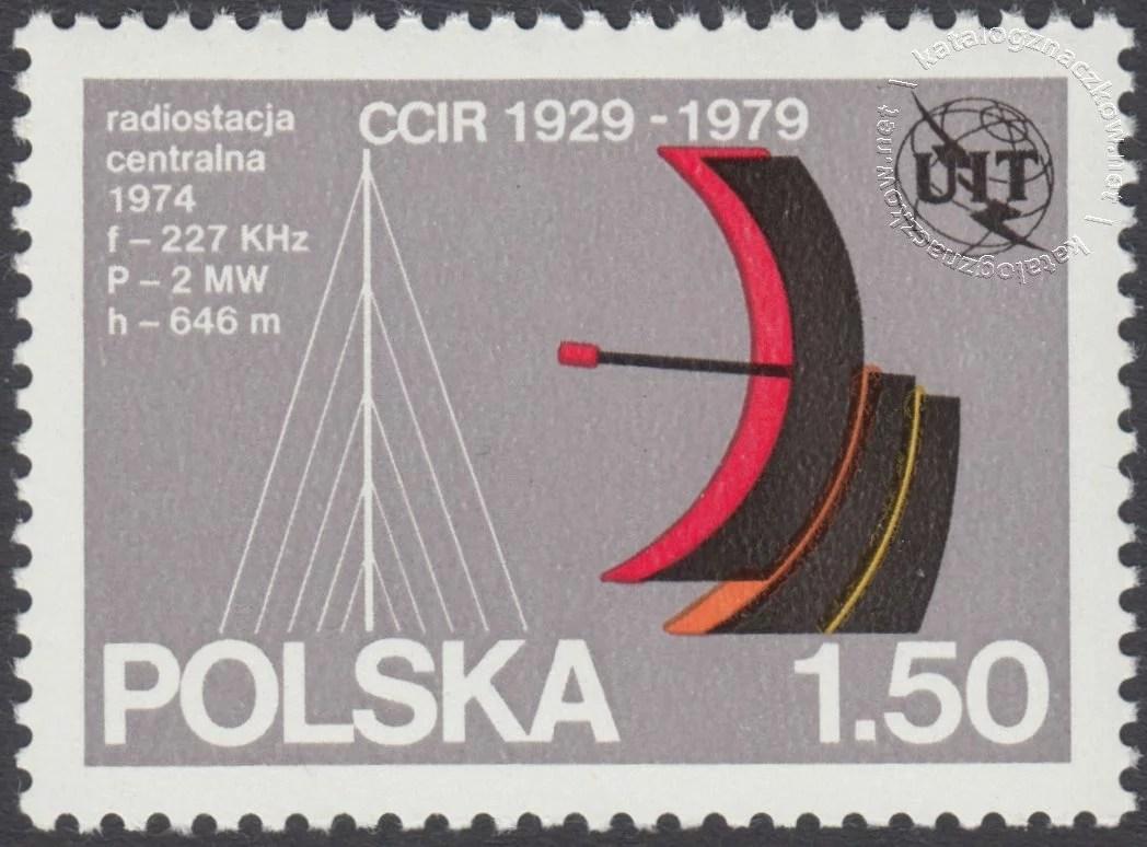 50 lecie Międzynarodowego Doradczego Komitetu Radiokomunikacyjnego znaczek nr 2499