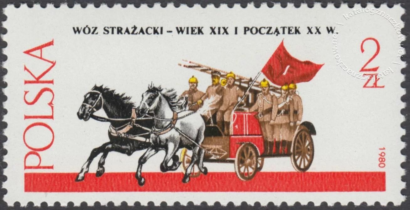 Warszawskie pojazdy konne znaczek nr 2573