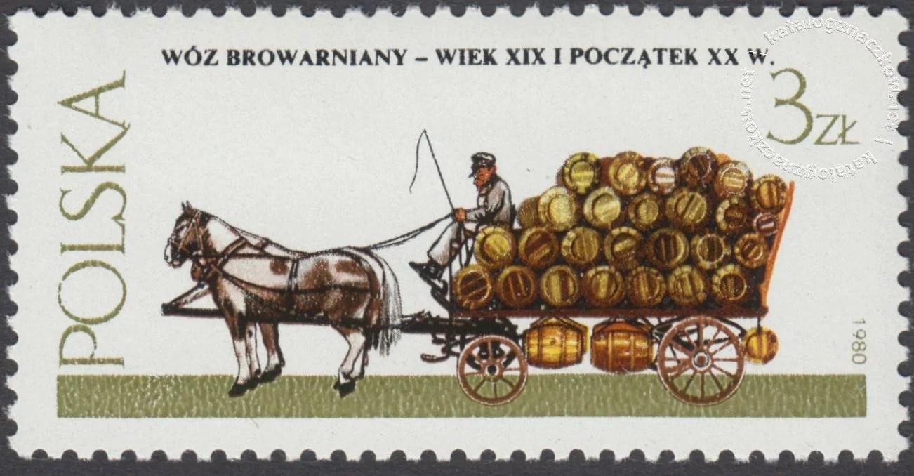 Warszawskie pojazdy konne znaczek nr 2575