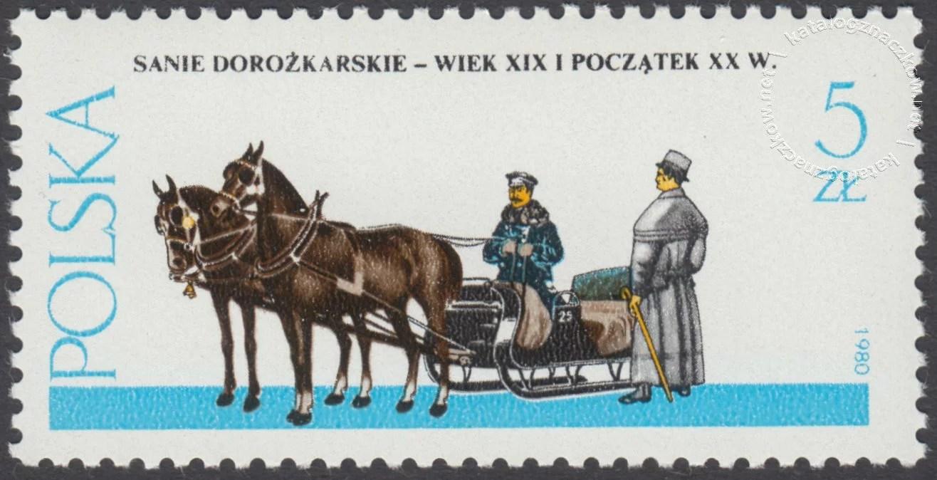 Warszawskie pojazdy konne znaczek nr 2576