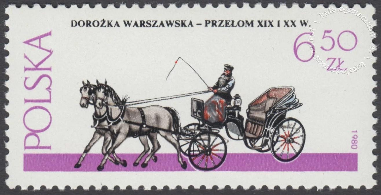 Warszawskie pojazdy konne znaczek nr 2578
