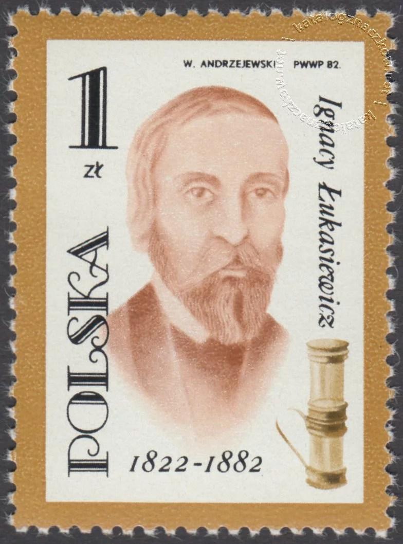 100 rocznica śmierci Ignacego Łukaszewicza znaczek nr 2651