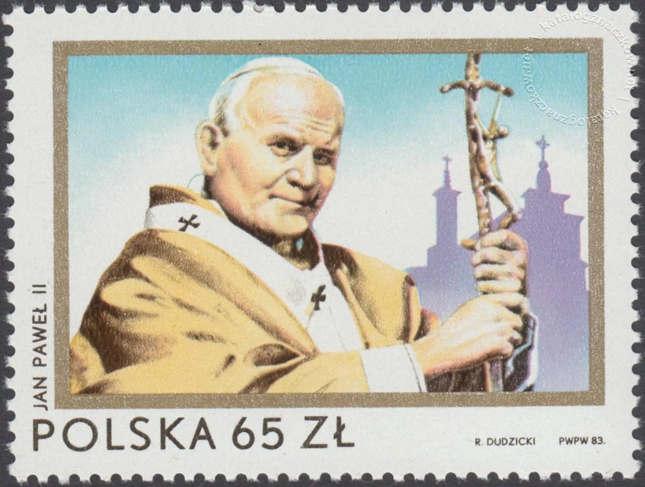 II wizyta papieża Jana Pawła II w Polsce znaczek nr 2721