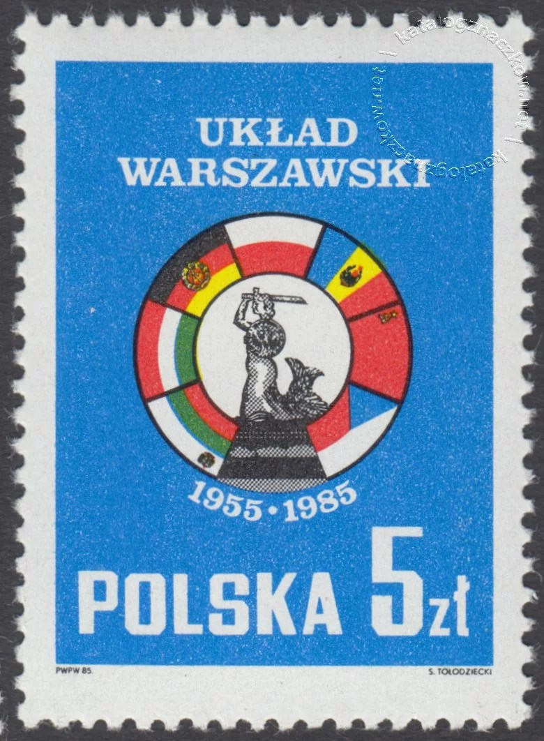 30 rocznica podpisania Układu Warszawskiego znaczek nr 2826
