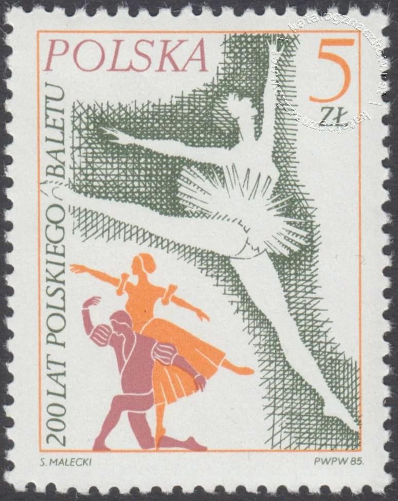 200 lat polskiego baletu znaczek nr 2857