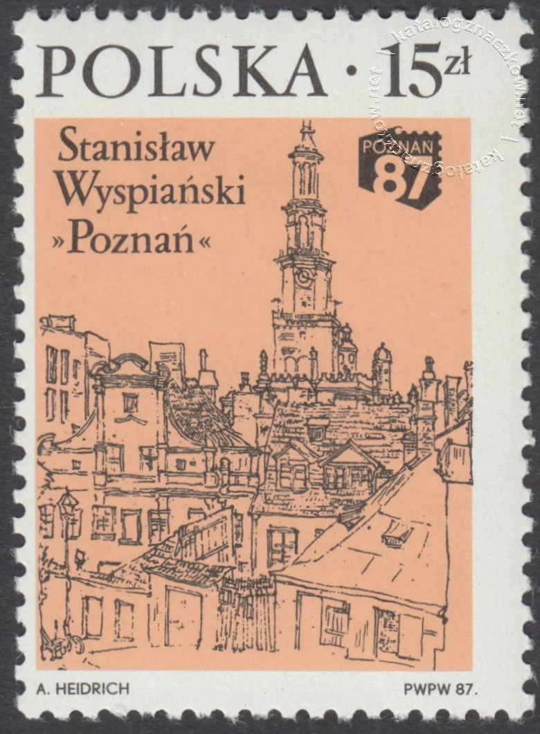 XV Ogólnopolska Wystawa Filatelistyczna Poznań 87 znaczek nr 2957
