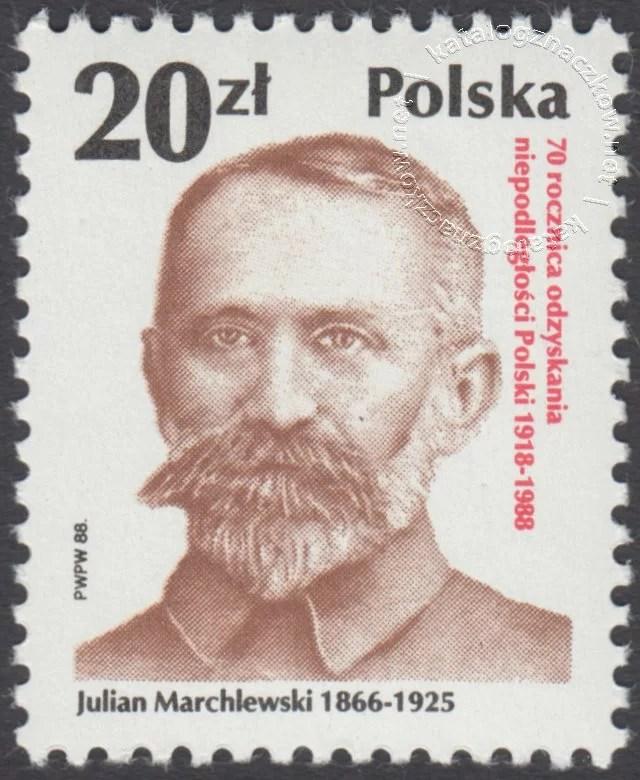70 rocznica odzyskania niepodległości Polski znaczek nr 3023
