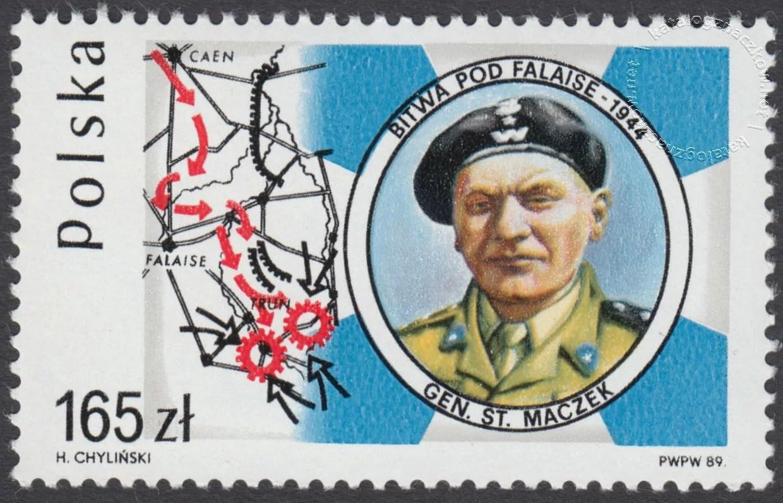 45 rocznica bitwy pod Falaise znaczek nr 3065