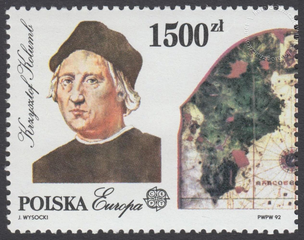 500-lecie odkrycia Ameryki znaczek nr 3229