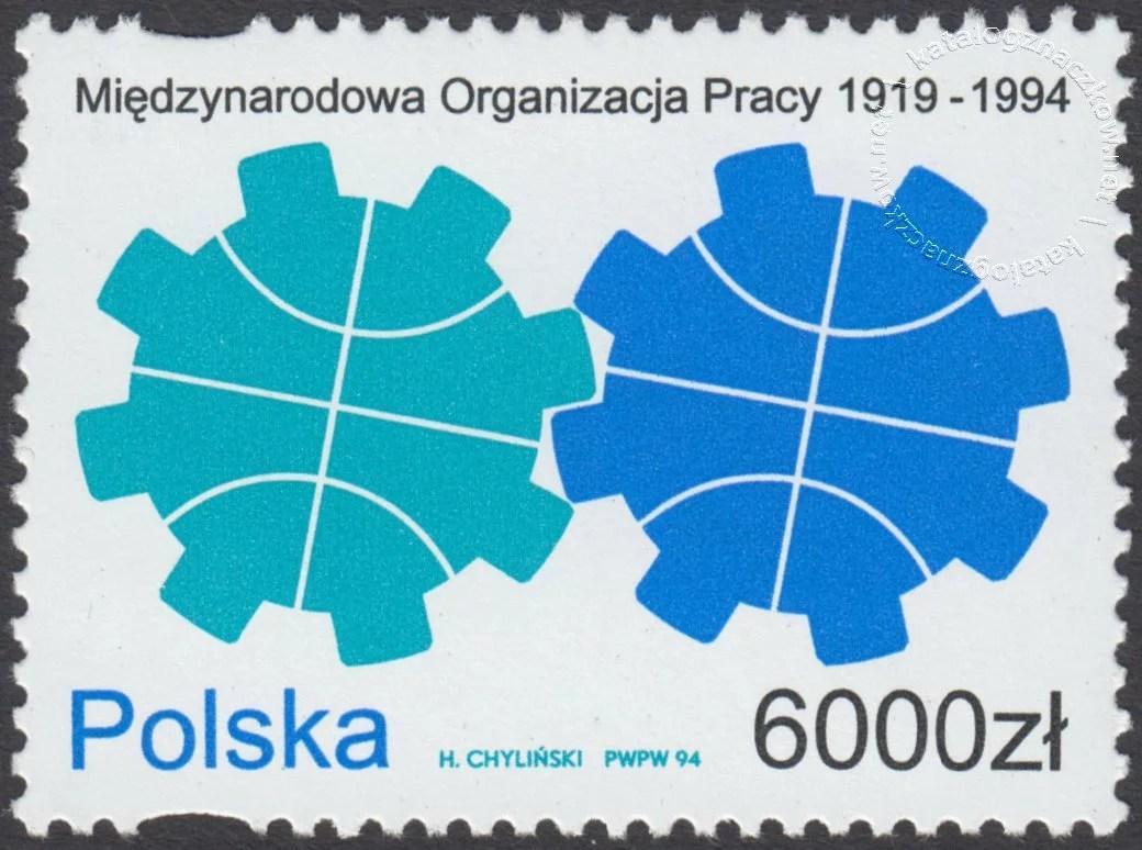 75 lat Międzynarodowej Organizacji Pracy znaczek nr 3345