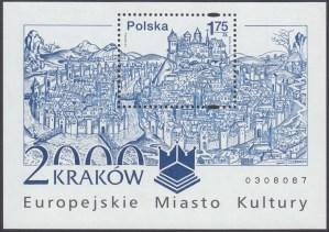 Kraków - Europejskie Miasto Kultury roku 2000 - Blok 125B