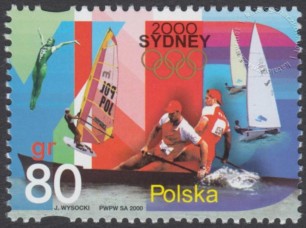 Igrzyska XXVII Olimpiady Sydney 2000 znaczek nr 3707