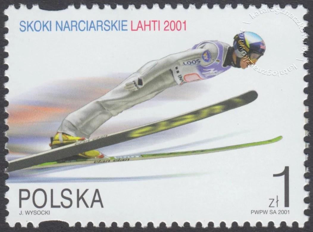 Skoki narciarskie na Mistrzostwach Świata Lahti 2001 znaczek nr 3730I