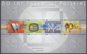 50-lecie Telewizji Polskiej ark. 3853-3856