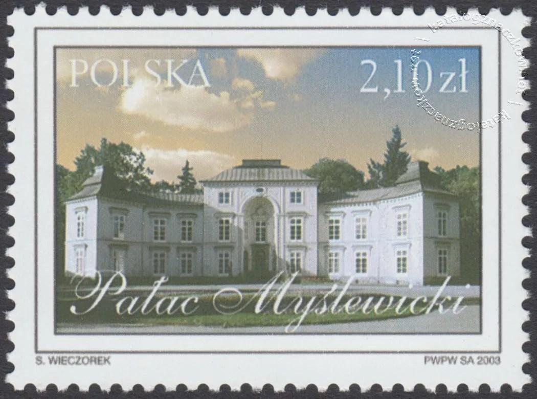 Łazienki Królewskie znaczek nr 3904