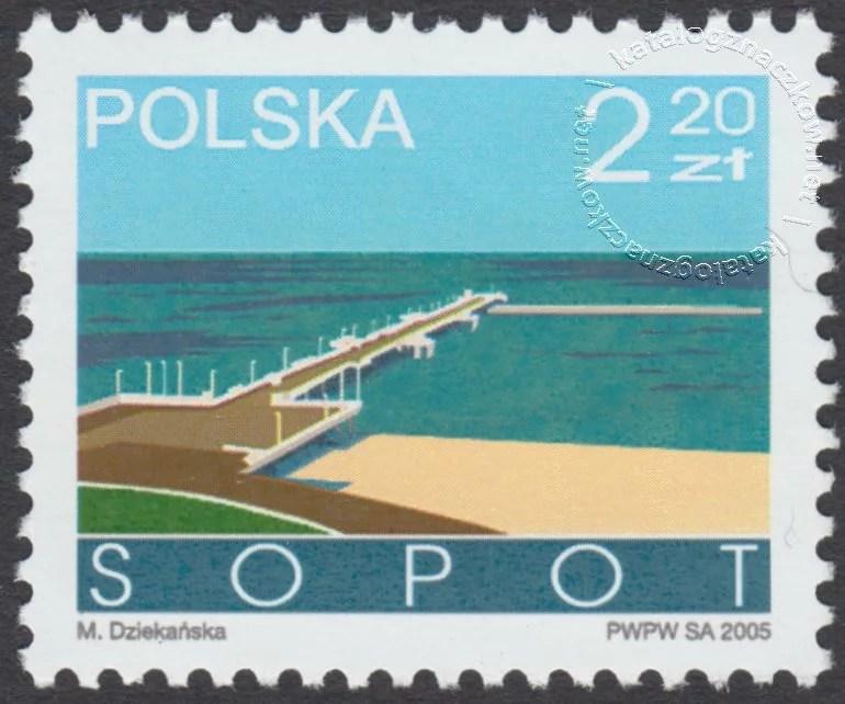 Miasta polskie – Sopot znaczek nr 4040