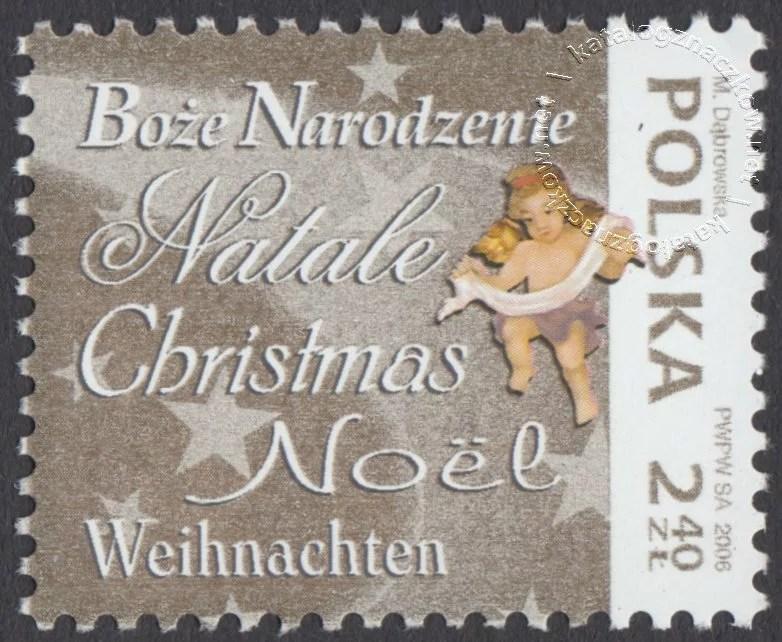 Boże Narodzenie znaczek nr 4145