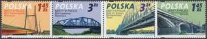 Mosty w Polsce znaczki nr 4223-4226