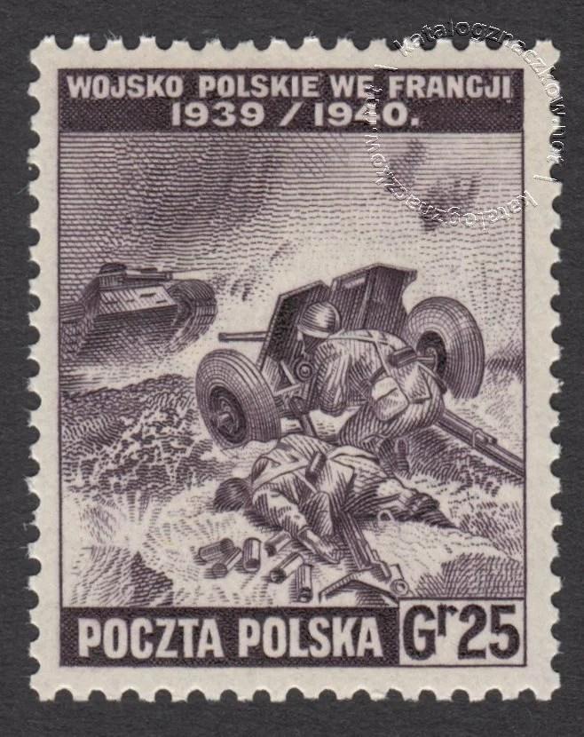 Polskie siły zbrojne w walce z Niemcami znaczek nr K338