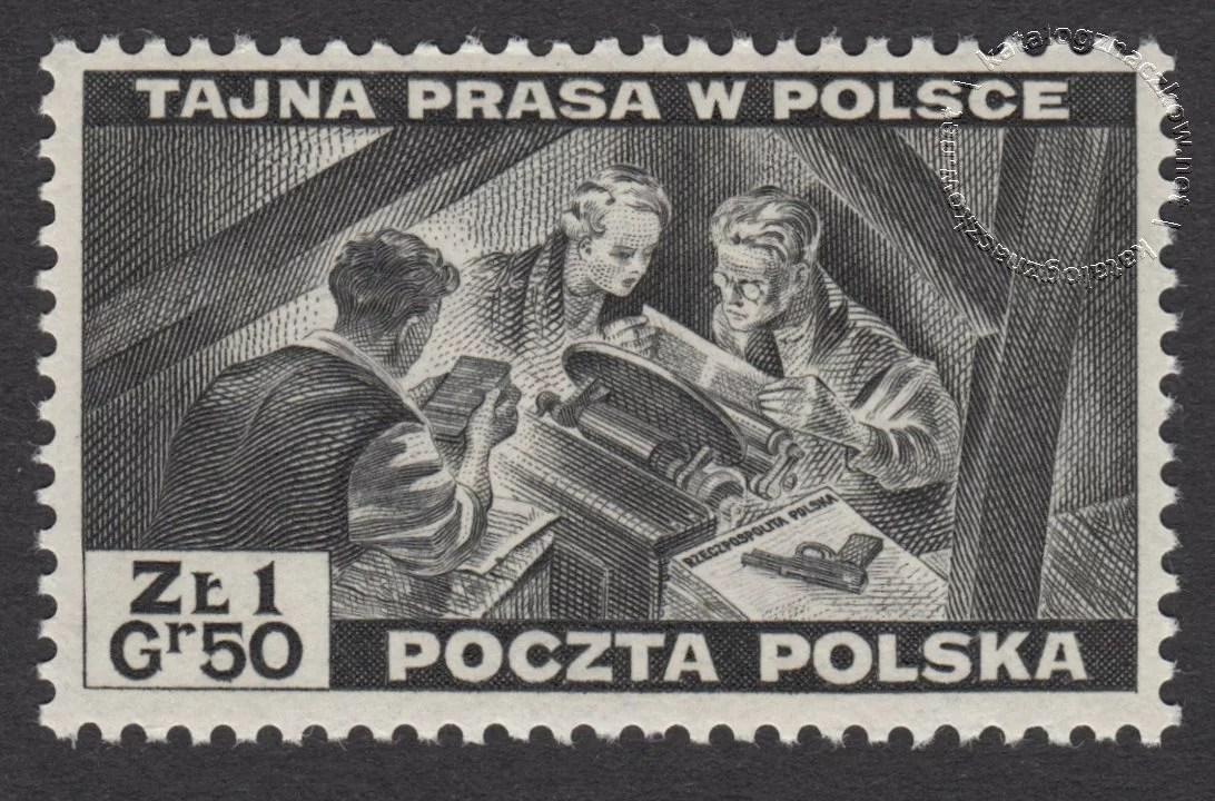 Polskie siły zbrojne w walce z Niemcami  znaczek nr O338