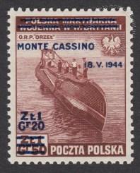 Zdobycie Monte Cassino - znaczek nr T338