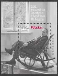 100 rocznica urodzin Czesława Miłosza - Blok 161