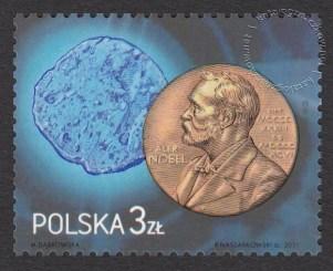100-lecie Nagrody Nobla z chemii dla Marii Skłodowskiej-Curie - znaczek nr 4390