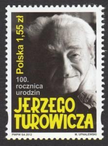 100 rocznica urodzin Jerzego Turowicza - znaczek nr 4443