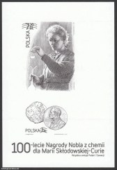 100-lecie Nagrody Nobla z chemii dla Marii Skłodowskiej-Curie - Blok 164C