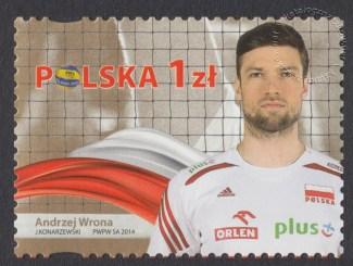 Złoci Medaliści FIVB Mistrzostw świata w piłce siatkowej mężczyzn Polska 2014 - znaczek nr 4582