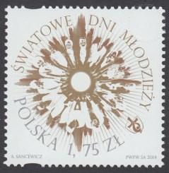 Światowe Dni Młodzieży - znaczek nr 4598
