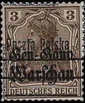 Wydanie przedrukowane na znaczkach GG Warschau - 6