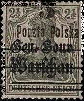 Wydanie przedrukowane na znaczkach GG Warschau - 8