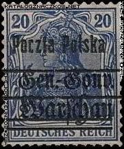 Wydanie przedrukowane na znaczkach GG Warschau - 12