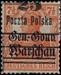 Wydanie przedrukowane na znaczkach GG Warschau - 13