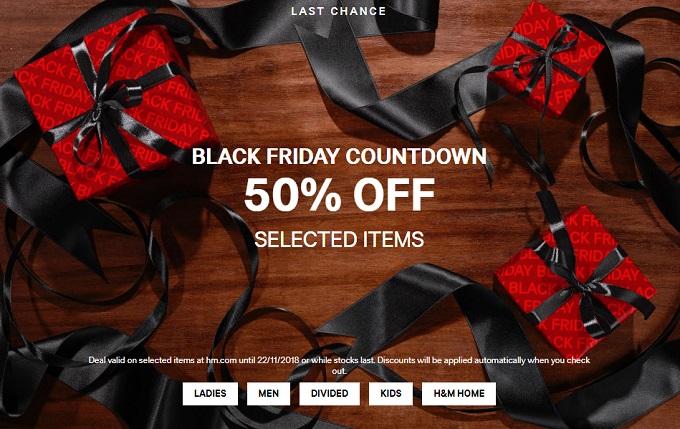 H&M Black Friday 2018