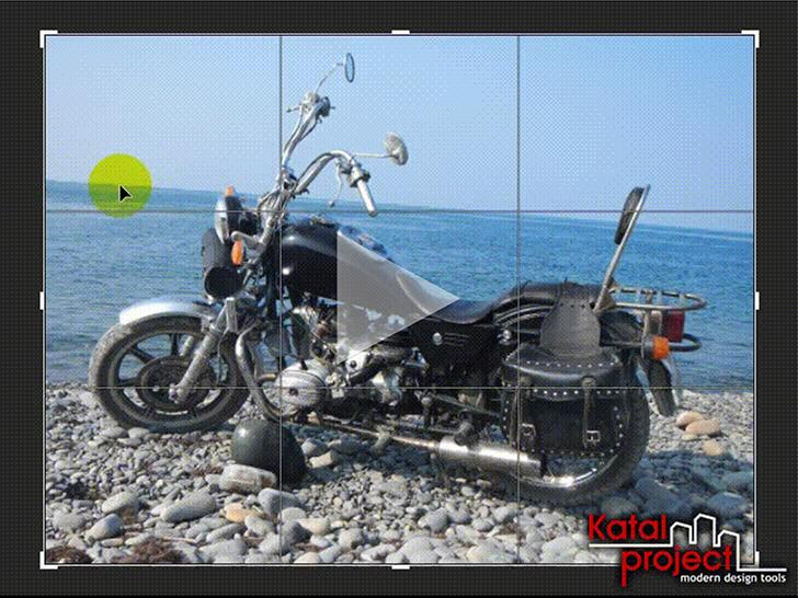 Photoshop CC 2019> Crop Tool> Menggunakan fungsi luruskan untuk menyelaraskan cakrawala