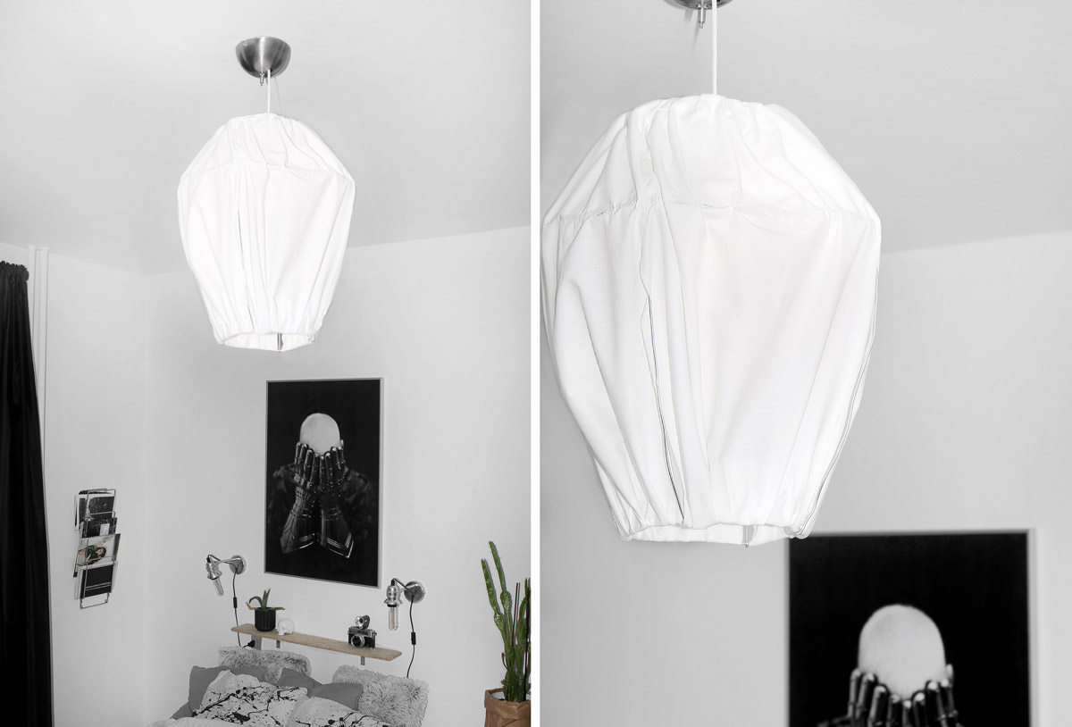 DIY loftlampe af stof // fabric lamp by Katarina Natalie