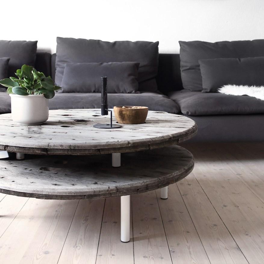 7 DIY PROJEKTER: Kabeltromle sofabord - Katarina Natalie