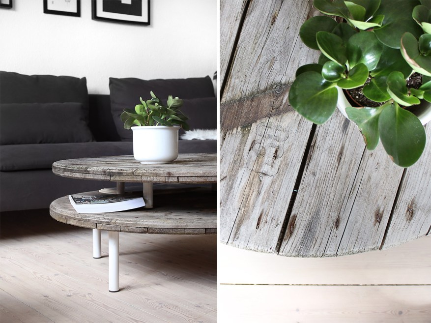 DIY kabeltromle sofabord || Katarina Natalie