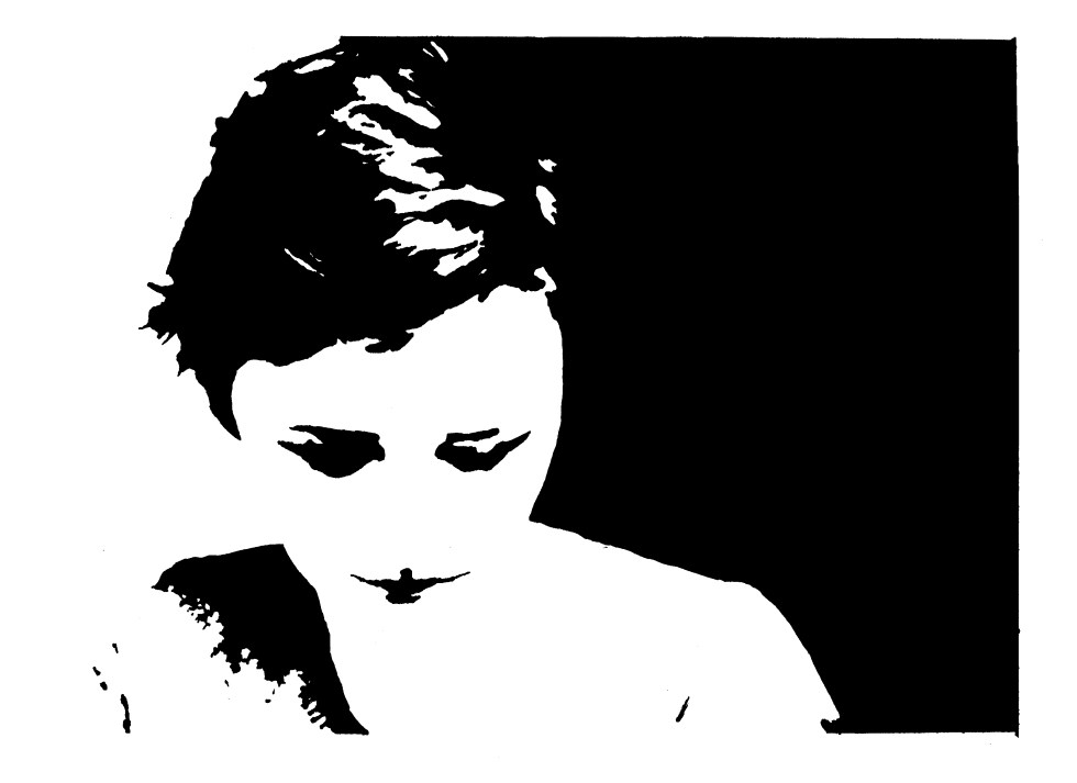 Concentration 10 Ink Self-Portrait by Katherine Augade