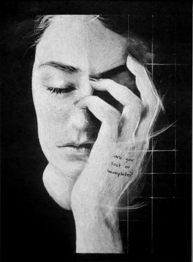 Lost or Incomplete - White Charcoal