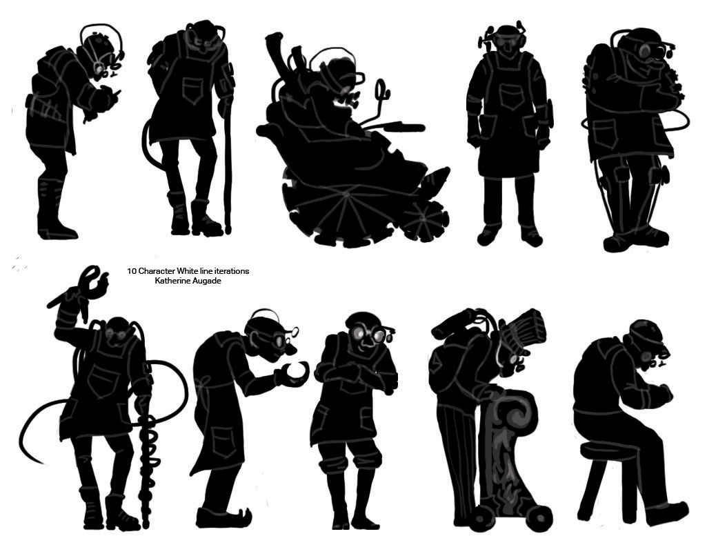 10 Character White Line Iterations
