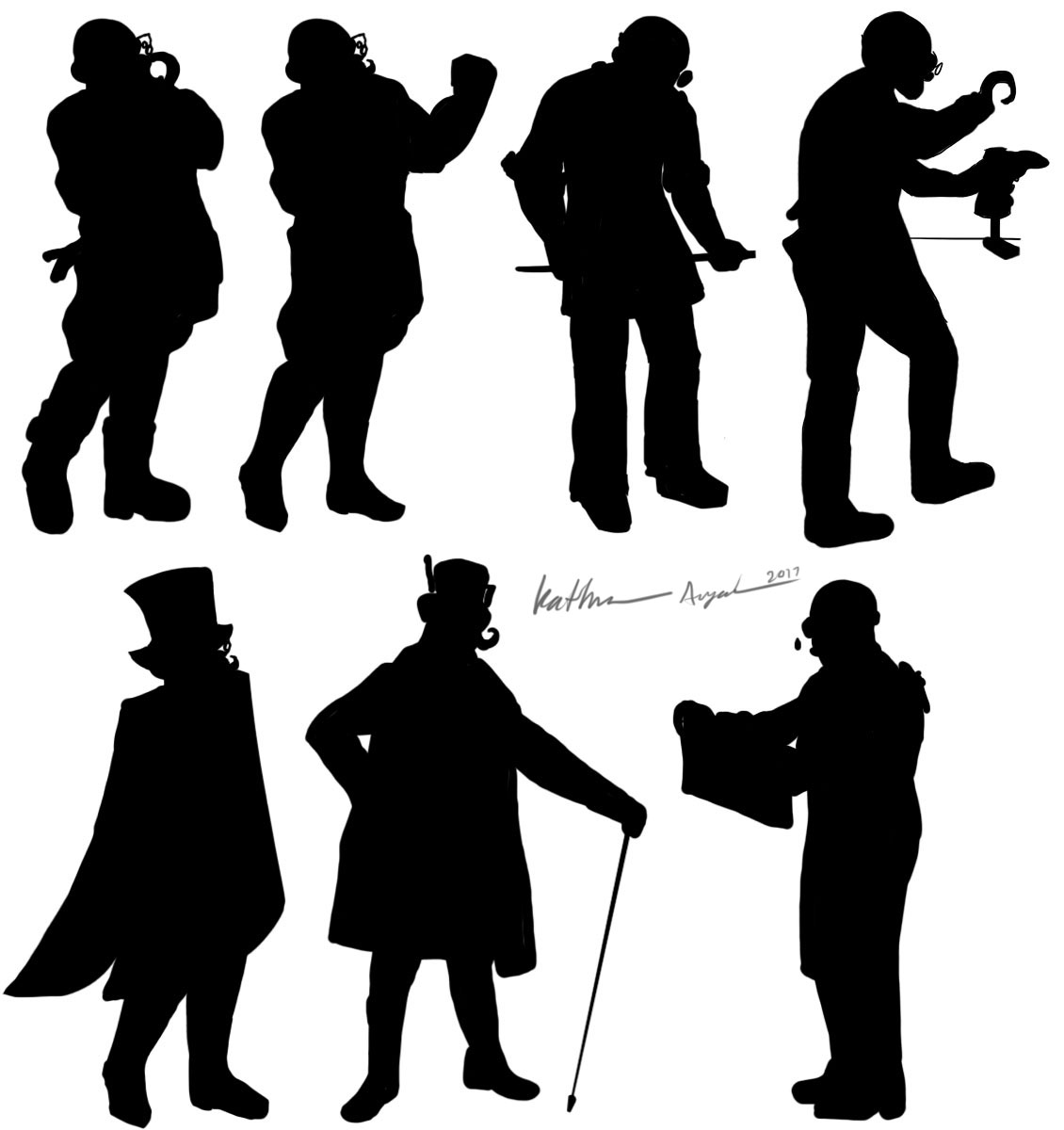 More Shoemaker Character Silhouettes