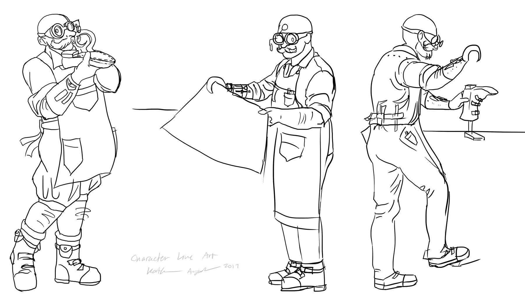 Character Line Art - Shoemaker