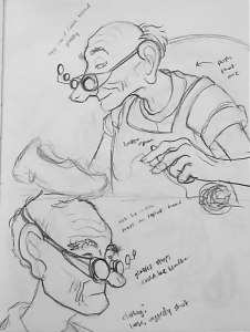 Early Character Sketches - Shoemaker