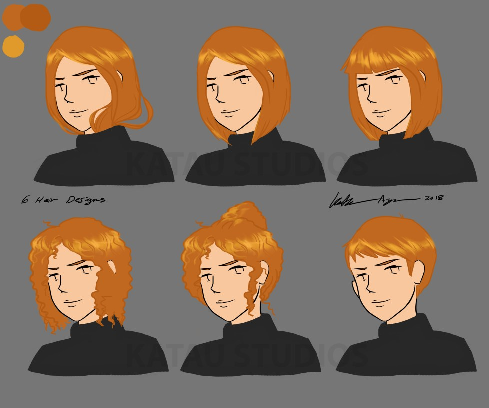 6 Character Hair Designs